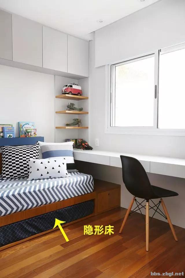 二胎家庭不做上下铺,越来越多人都把2张床靠墙放,中间做收纳柜-11.jpg