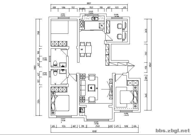 城南壹号量房中:140㎡经典四室户型,打造美而不腻的轻奢风-12.jpg