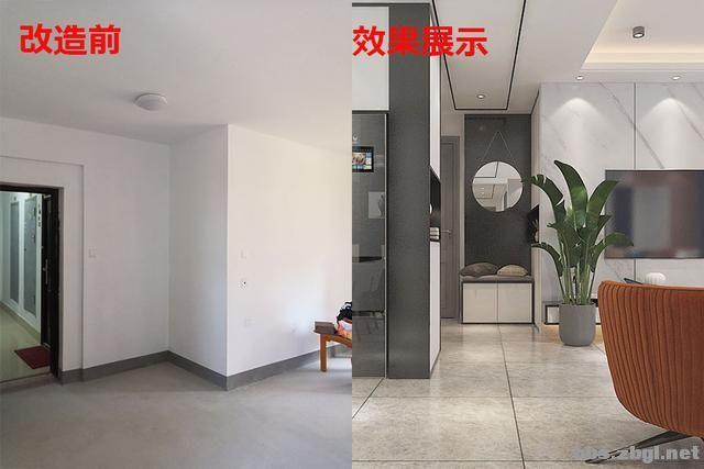 141㎡现代无主灯案例,电视墙用岩板+地台设计,邻居都来效仿-5.jpg