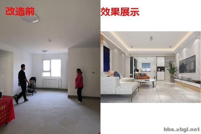 141㎡现代无主灯案例,电视墙用岩板+地台设计,邻居都来效仿-9.jpg