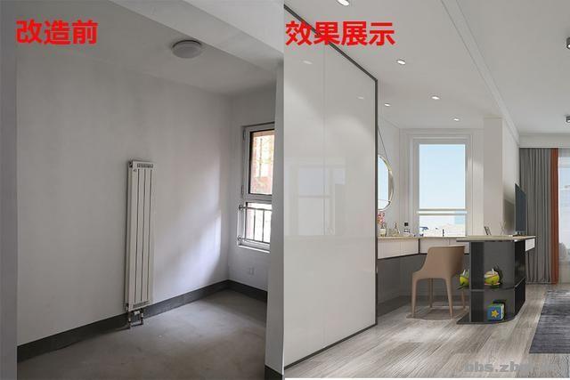 141㎡现代无主灯案例,电视墙用岩板+地台设计,邻居都来效仿-18.jpg