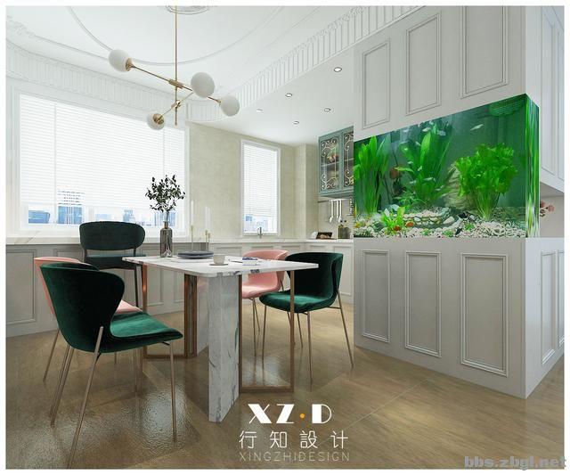 设计案例:济南财富壹号轻奢法式风格,壁炉造型电视墙简洁又漂亮-12.jpg