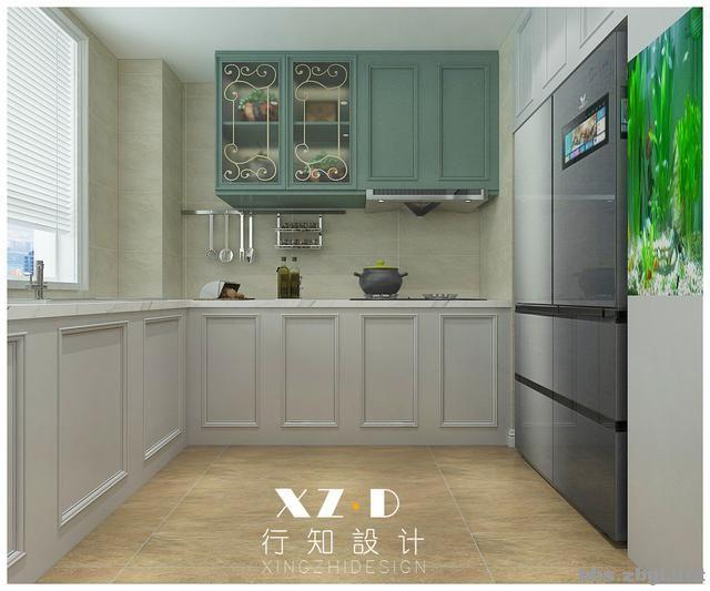 设计案例:济南财富壹号轻奢法式风格,壁炉造型电视墙简洁又漂亮-14.jpg
