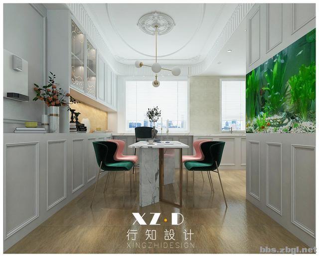 设计案例:济南财富壹号轻奢法式风格,壁炉造型电视墙简洁又漂亮-13.jpg