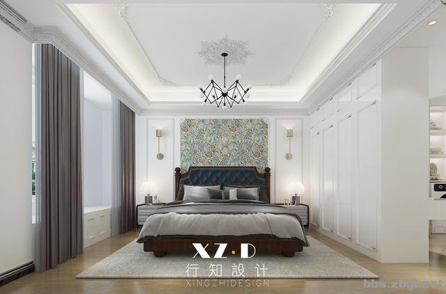 设计案例:济南财富壹号轻奢法式风格,壁炉造型电视墙简洁又漂亮-19.jpg