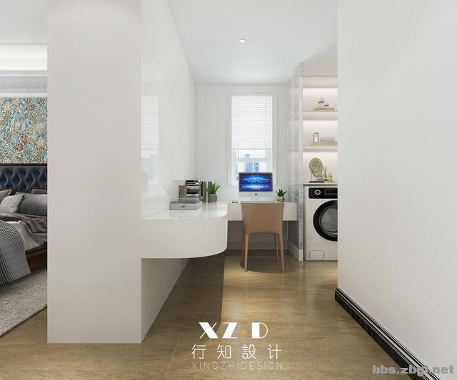 设计案例:济南财富壹号轻奢法式风格,壁炉造型电视墙简洁又漂亮-20.jpg