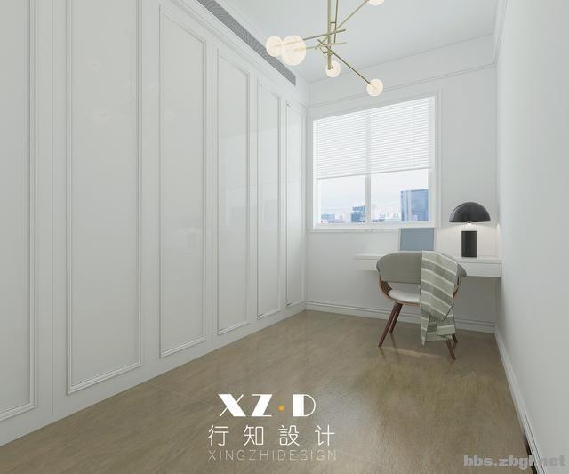 设计案例:济南财富壹号轻奢法式风格,壁炉造型电视墙简洁又漂亮-25.jpg