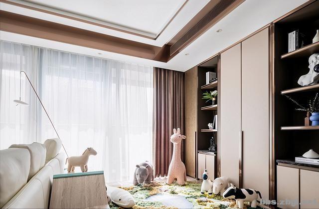 173㎡精装房改造设计案例:把家装成现代轻奢风,打造完美四居室-7.jpg
