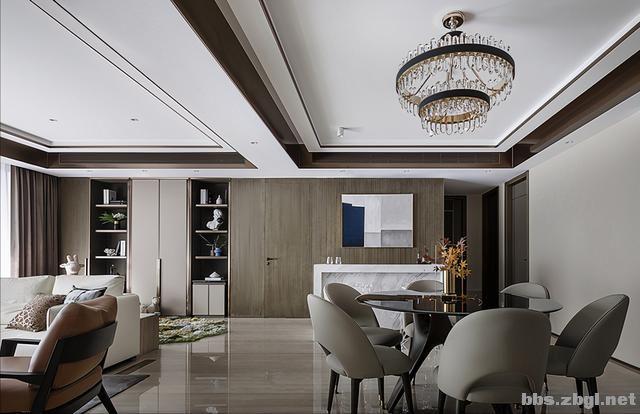 173㎡精装房改造设计案例:把家装成现代轻奢风,打造完美四居室-9.jpg