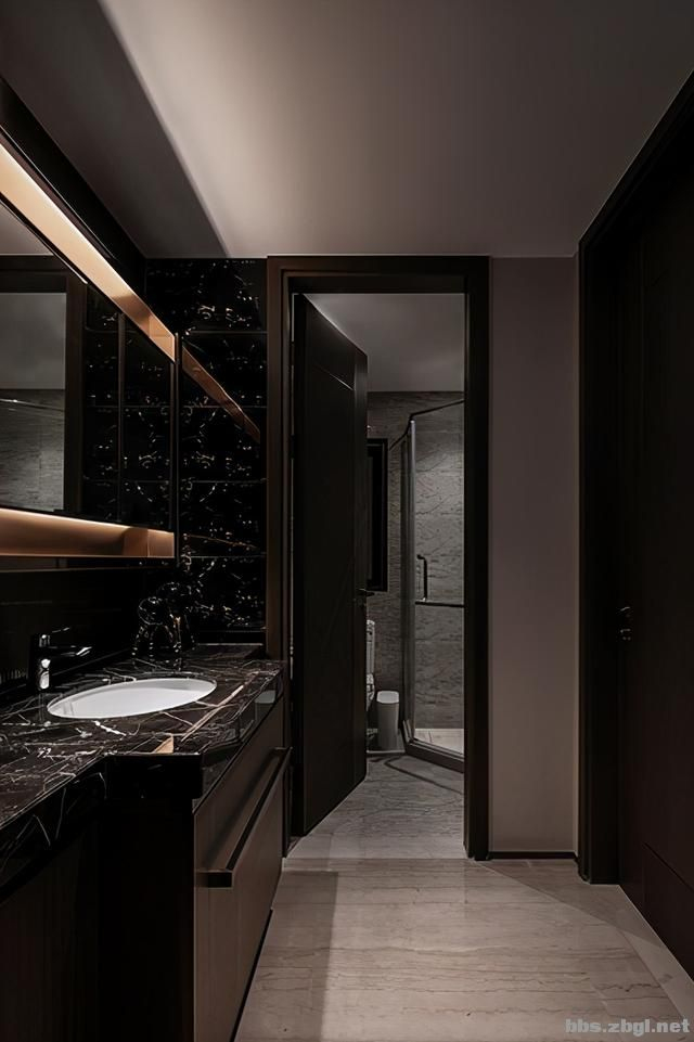 173㎡精装房改造设计案例:把家装成现代轻奢风,打造完美四居室-18.jpg