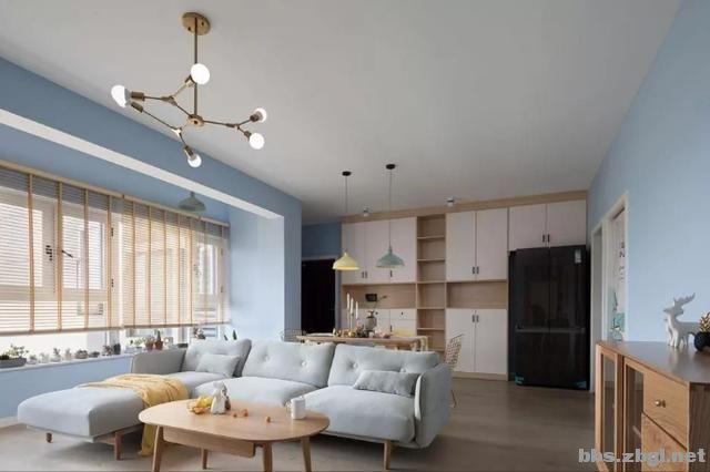 夏季北欧风:全房天蓝色墙面搭配马卡龙色,居住后真的很清爽-6.jpg
